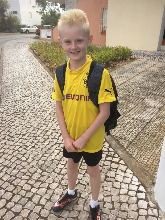 First day at Portuguese school
